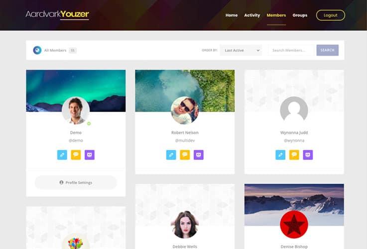 Aardvark - BuddyPress, Membership & Community WordPress Theme